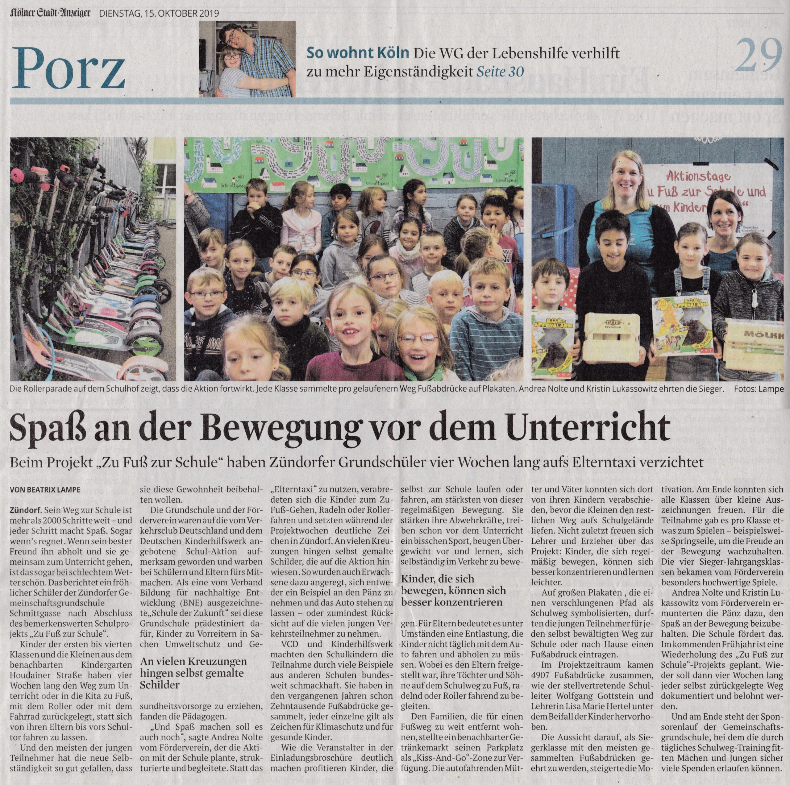 15.10.2019 Kölner Stadtanzeiger